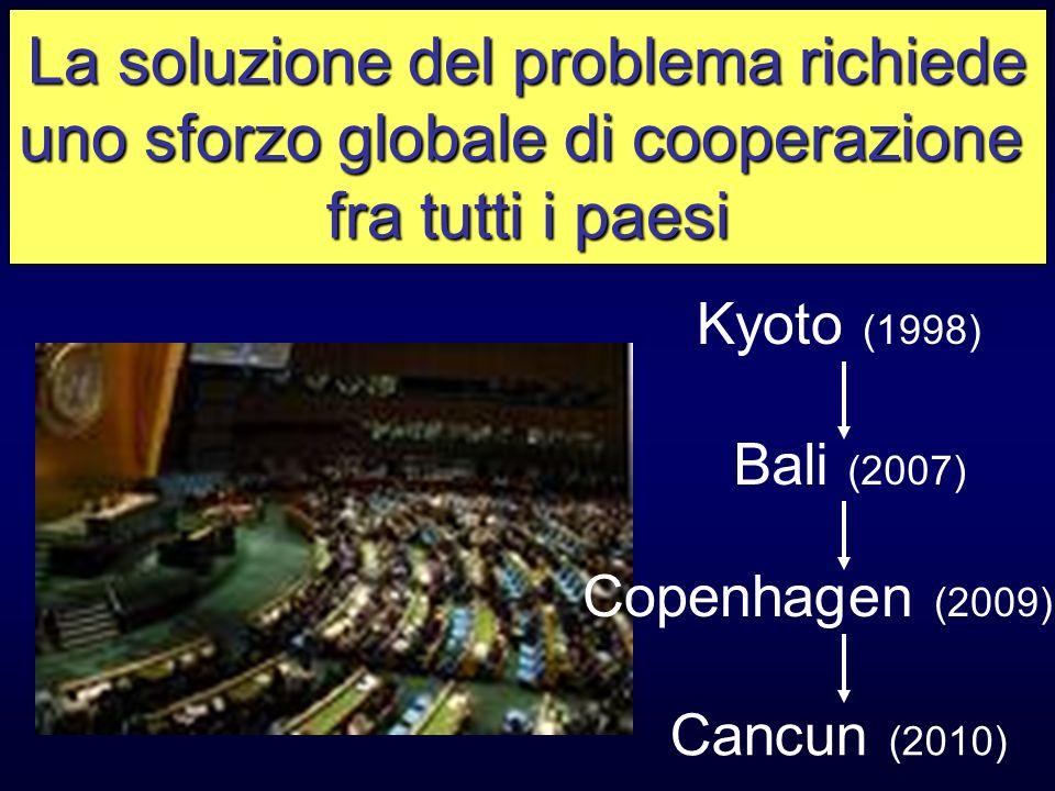 La soluzione del problema richiede uno sforzo globale di cooperazione