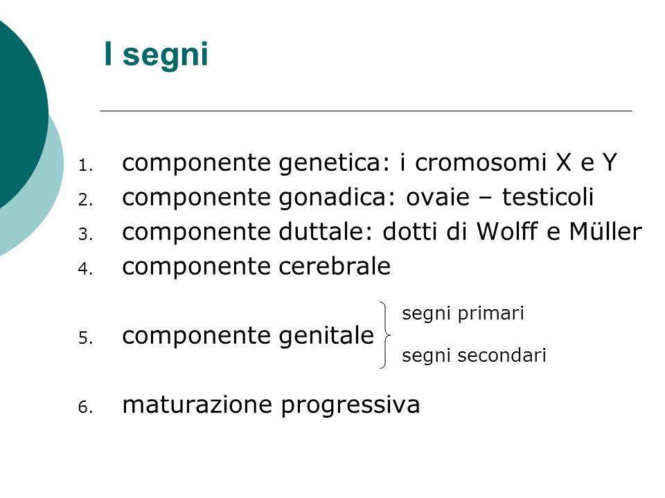 I segni componente genetica: i cromosomi X e Y