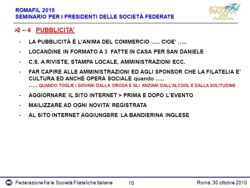2 – 4 PUBBLICITA' LA PUBBLICITÀ È L'ANIMA DEL COMMERCIO ….. CIOE' …..