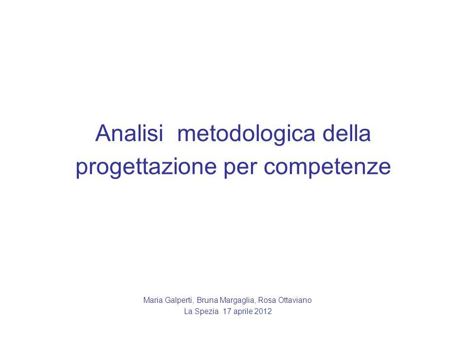 Analisi metodologica della progettazione per competenze