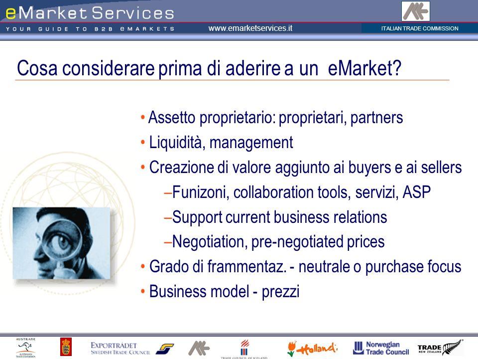 Cosa considerare prima di aderire a un eMarket