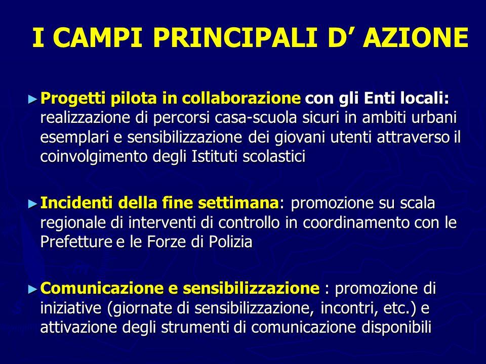 I CAMPI PRINCIPALI D' AZIONE