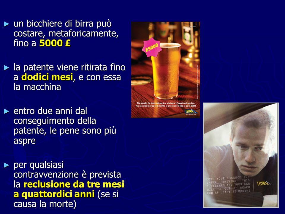 un bicchiere di birra può costare, metaforicamente, fino a 5000 £