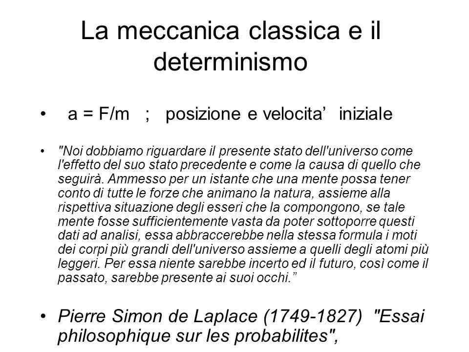 La meccanica classica e il determinismo