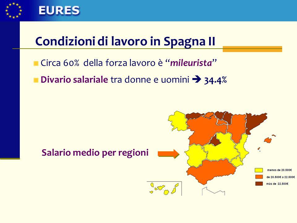 Condizioni di lavoro in Spagna II