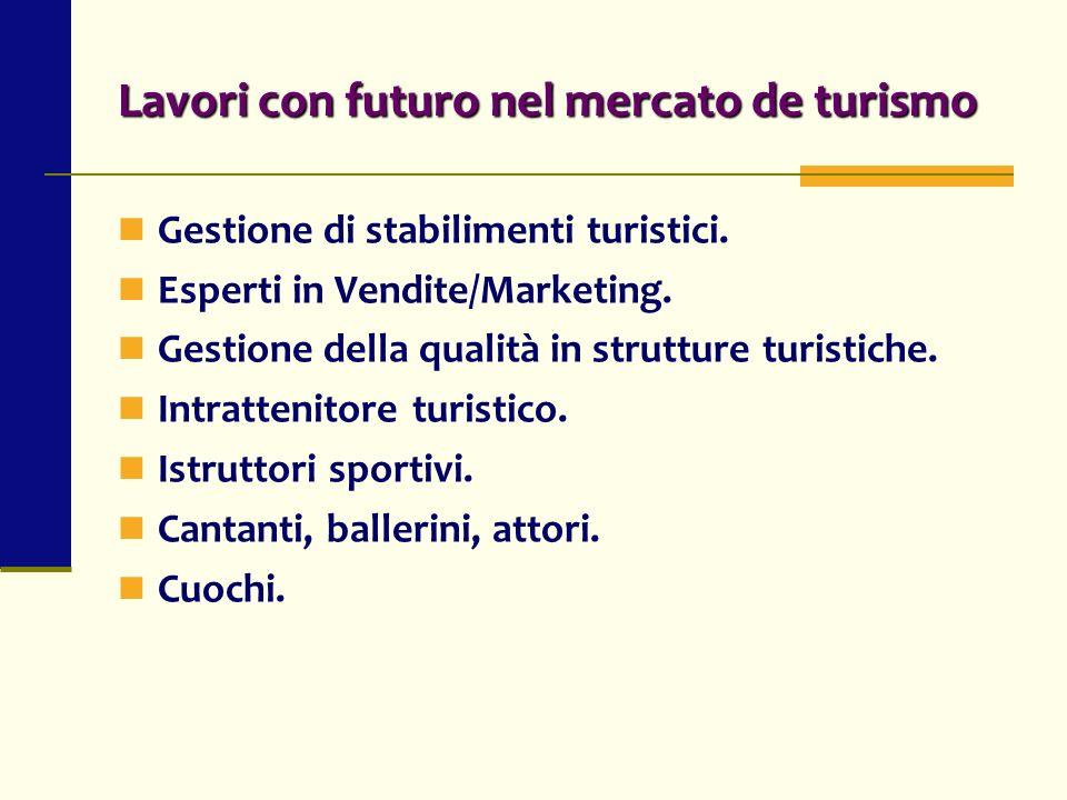 Lavori con futuro nel mercato de turismo