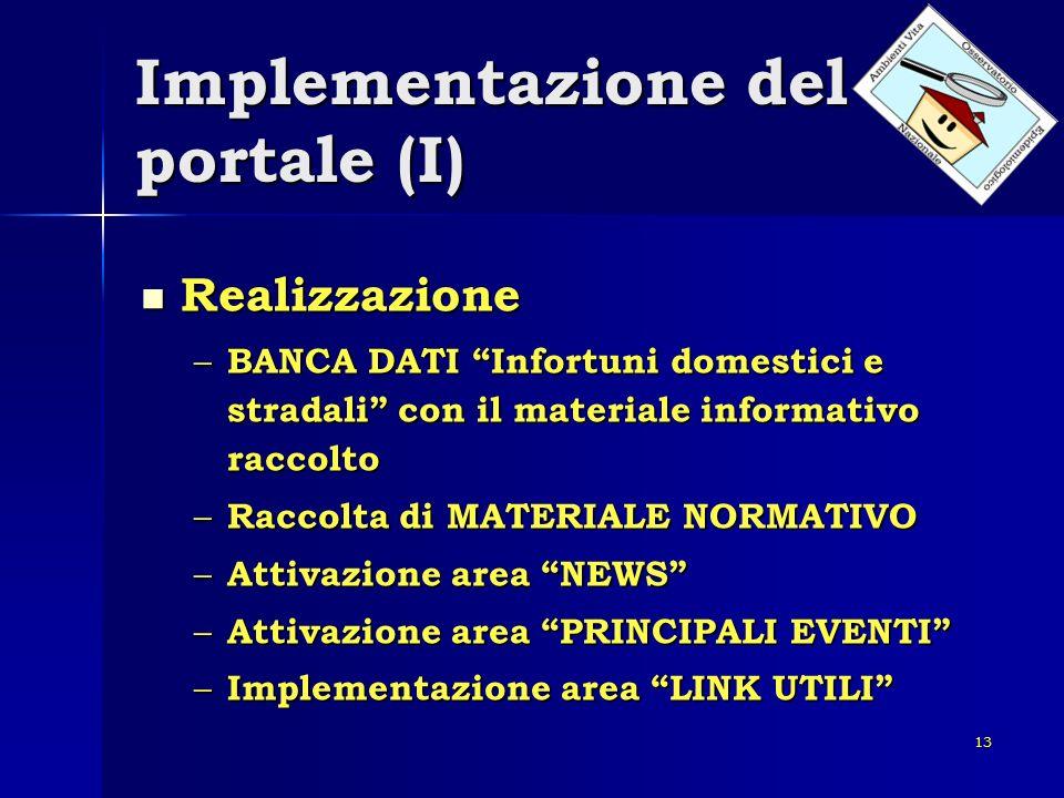 Implementazione del portale (I)