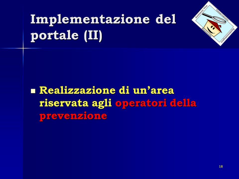 Implementazione del portale (II)