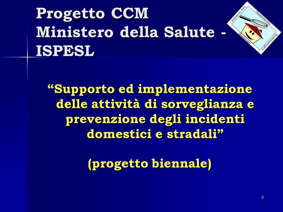 Progetto CCM Ministero della Salute - ISPESL