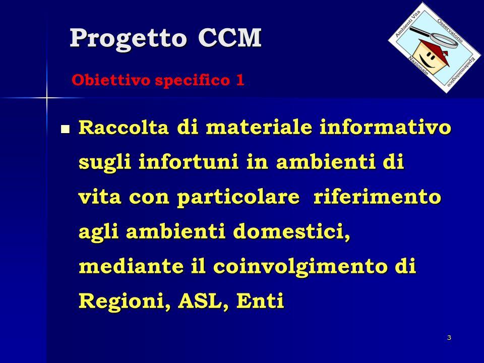 Progetto CCM Obiettivo specifico 1.