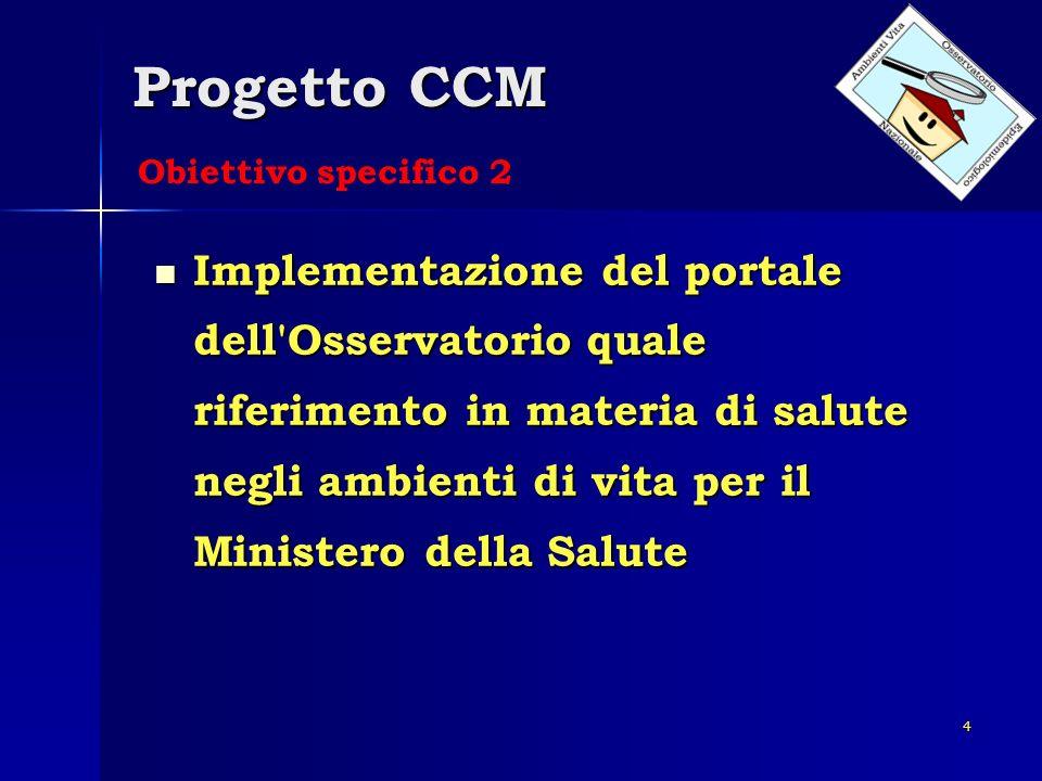 Progetto CCM Obiettivo specifico 2.
