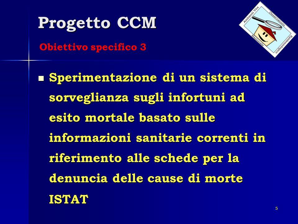 Progetto CCM Obiettivo specifico 3.