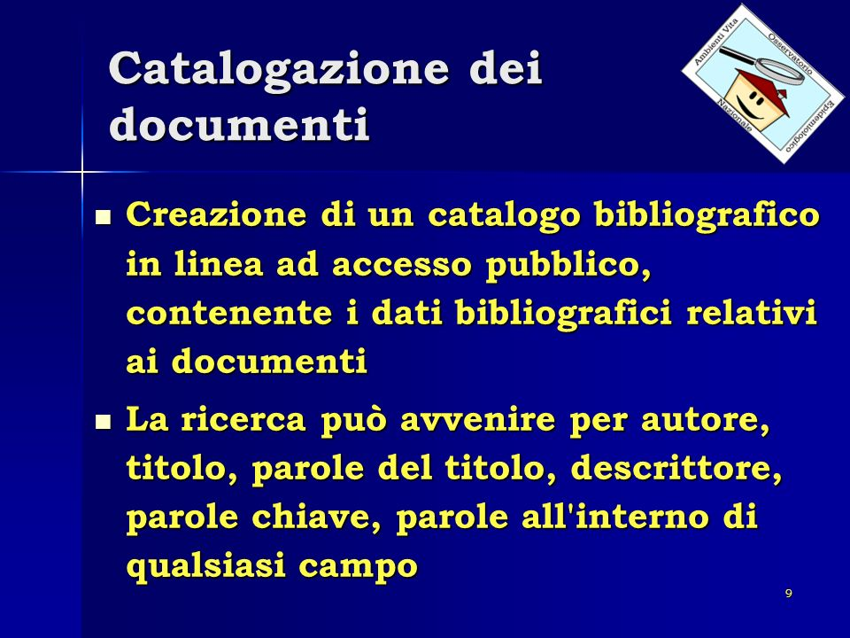 Catalogazione dei documenti