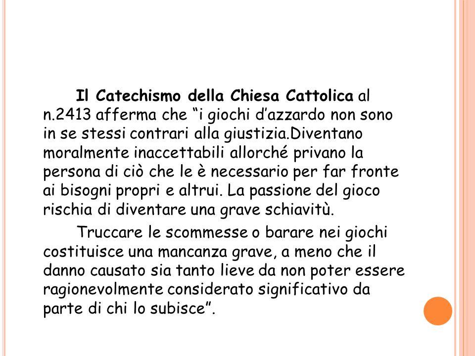Il Catechismo della Chiesa Cattolica al n