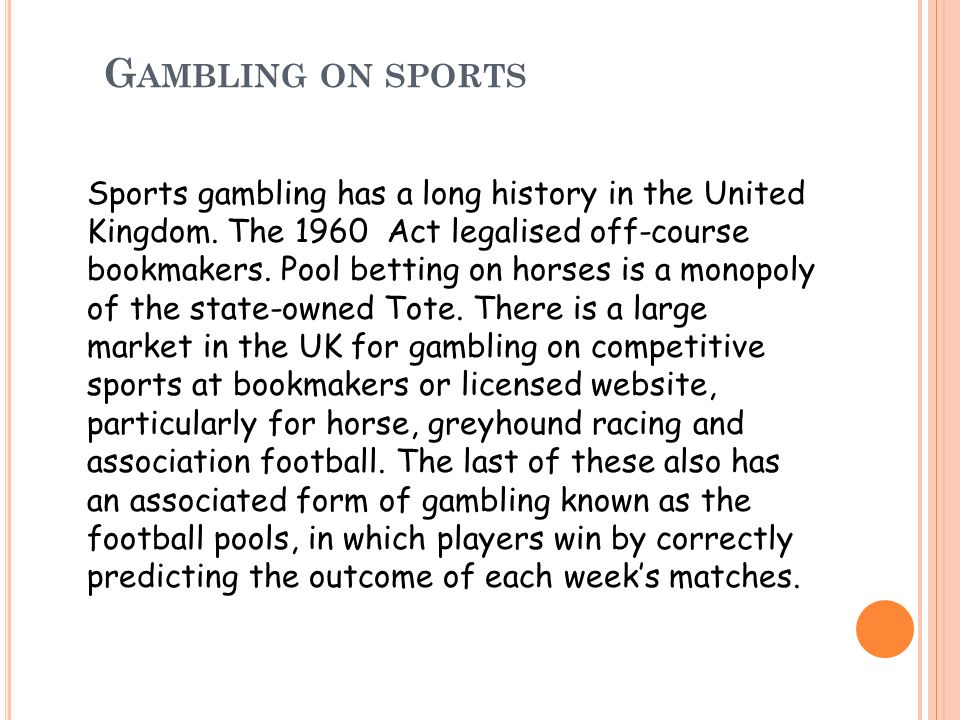 Gambling on sports