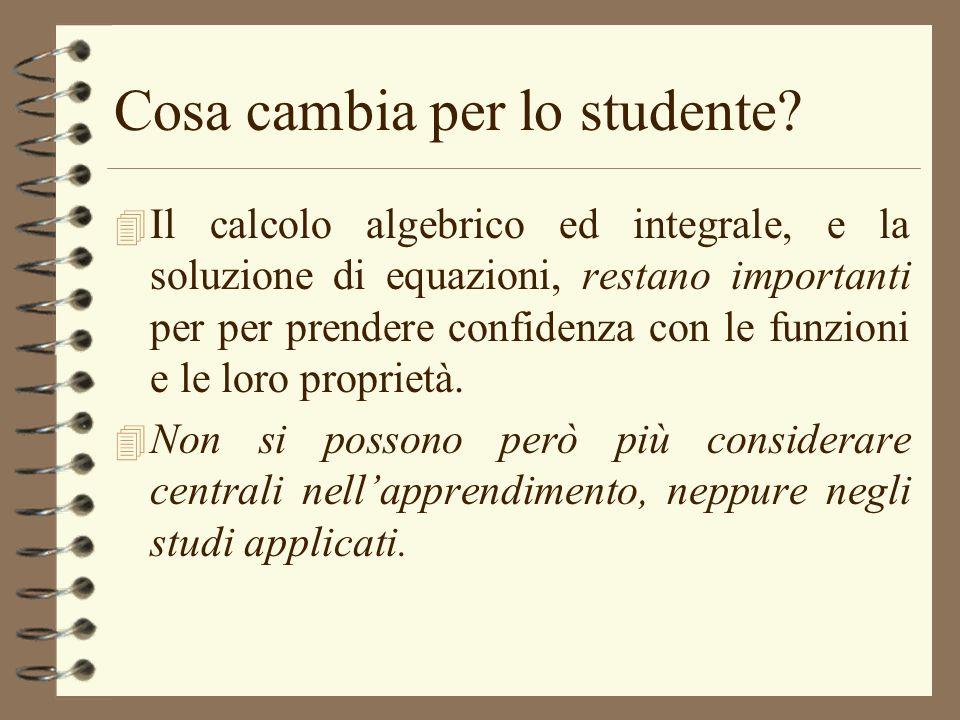 Cosa cambia per lo studente