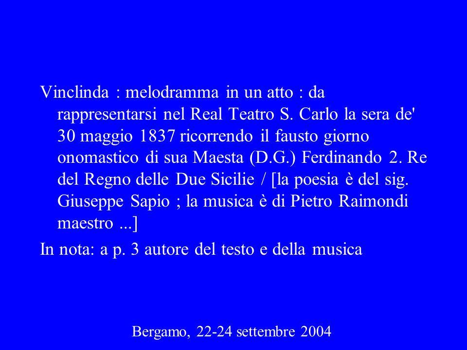 In nota: a p. 3 autore del testo e della musica