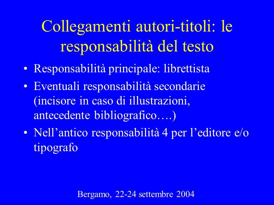 Collegamenti autori-titoli: le responsabilità del testo