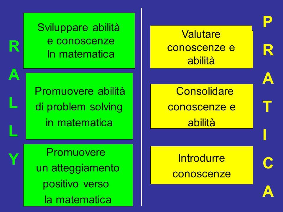 P R A R A T L I C Y Sviluppare abilità e conoscenze In matematica