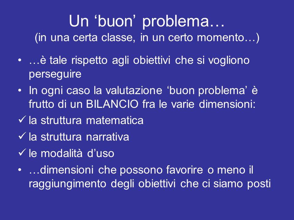 Un 'buon' problema… (in una certa classe, in un certo momento…)