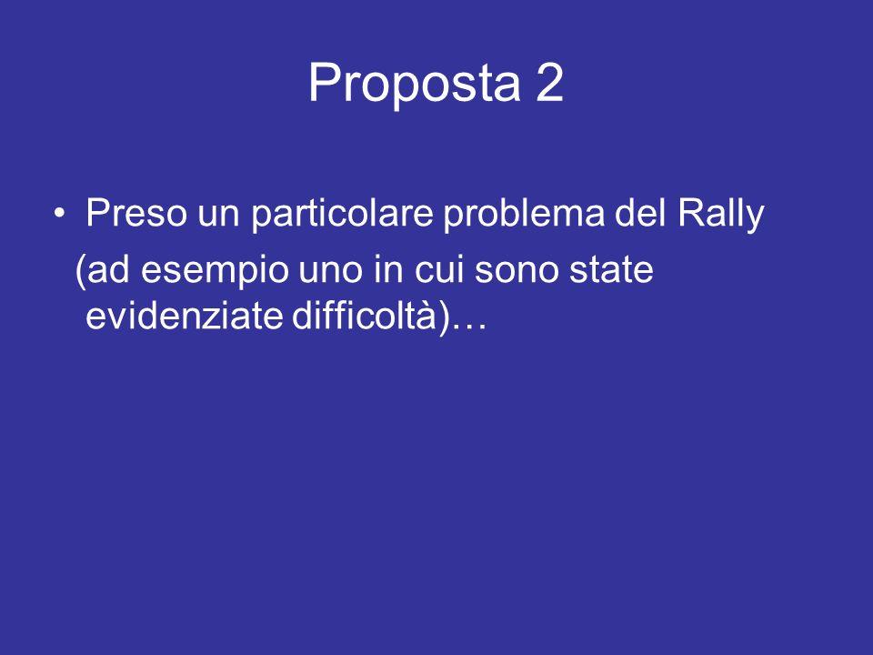 Proposta 2 Preso un particolare problema del Rally