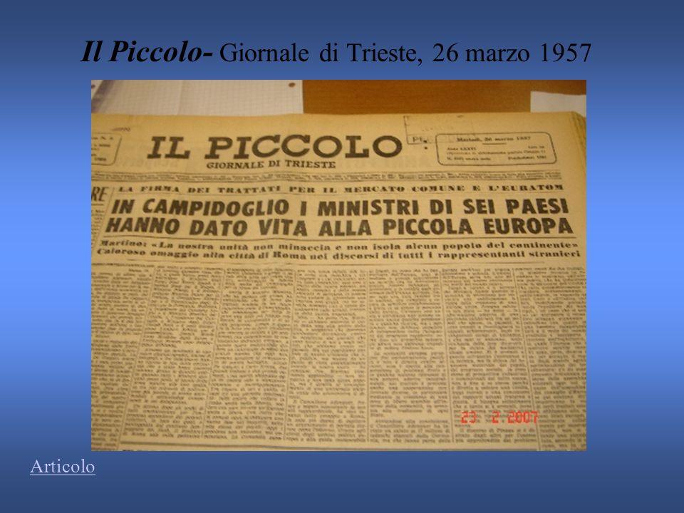 Il Piccolo- Giornale di Trieste, 26 marzo 1957