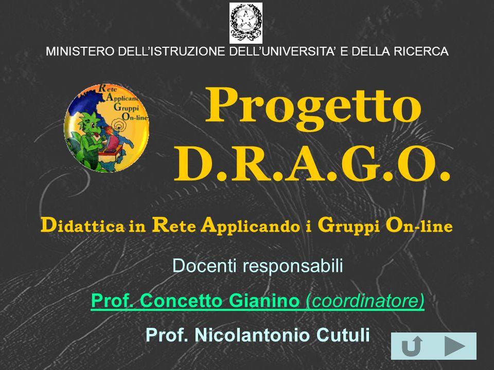 Progetto D.R.A.G.O. Didattica in Rete Applicando i Gruppi On-line
