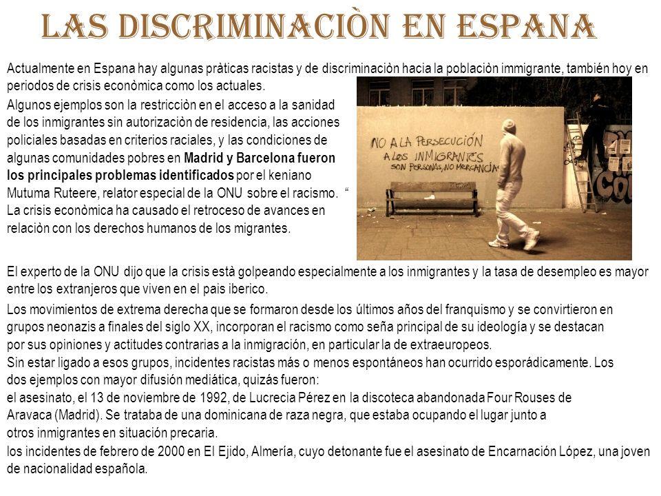 Las discriminaciòn en espana
