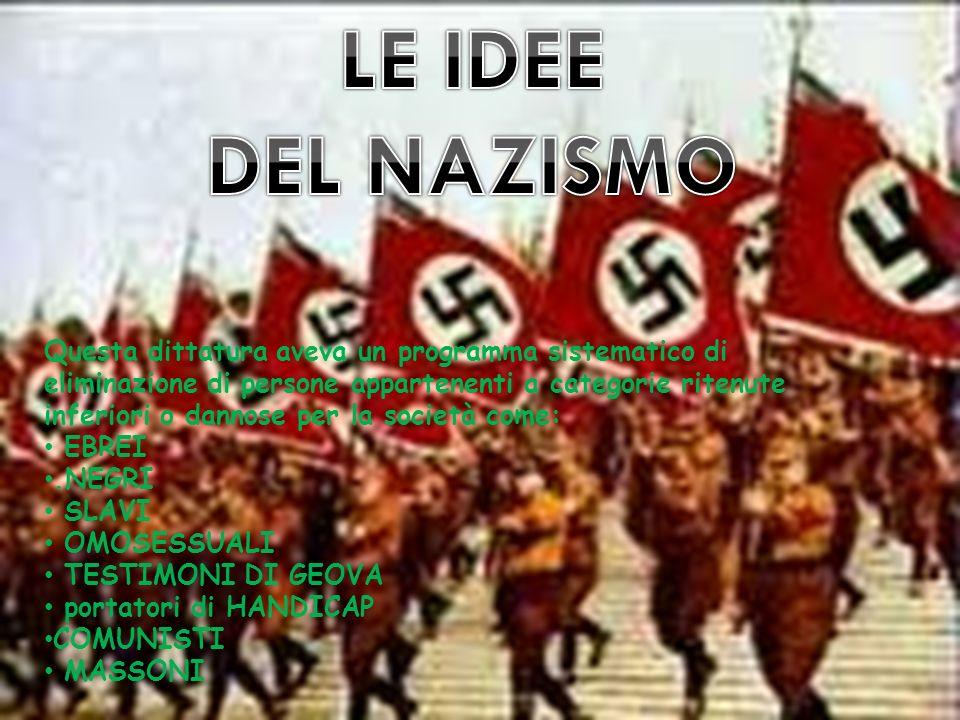 LE IDEE DEL NAZISMO.