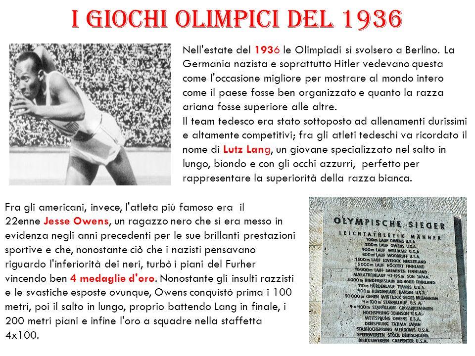 I GIOCHI OLIMPICI DEL 1936