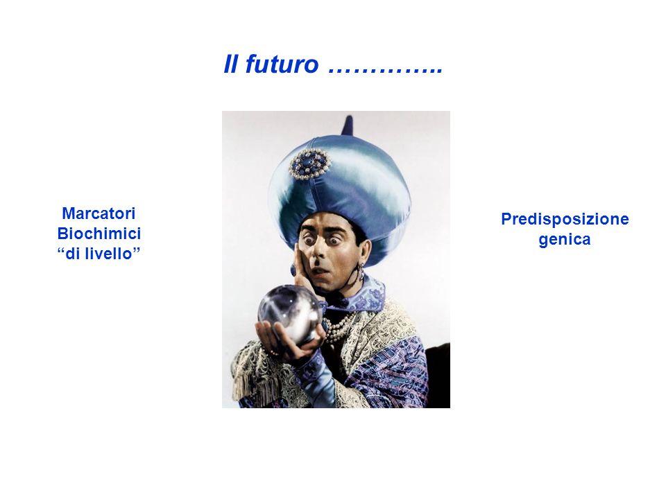 Il futuro ………….. Marcatori Predisposizione Biochimici genica