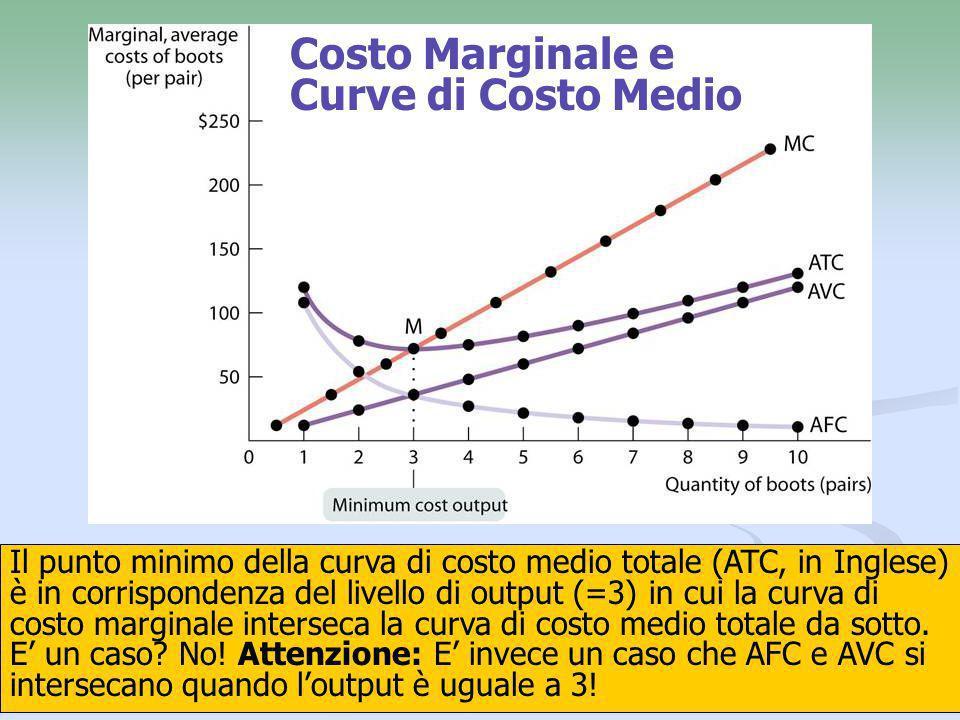 Costo Marginale e Curve di Costo Medio
