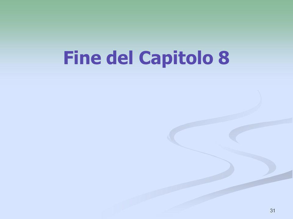 Fine del Capitolo 8