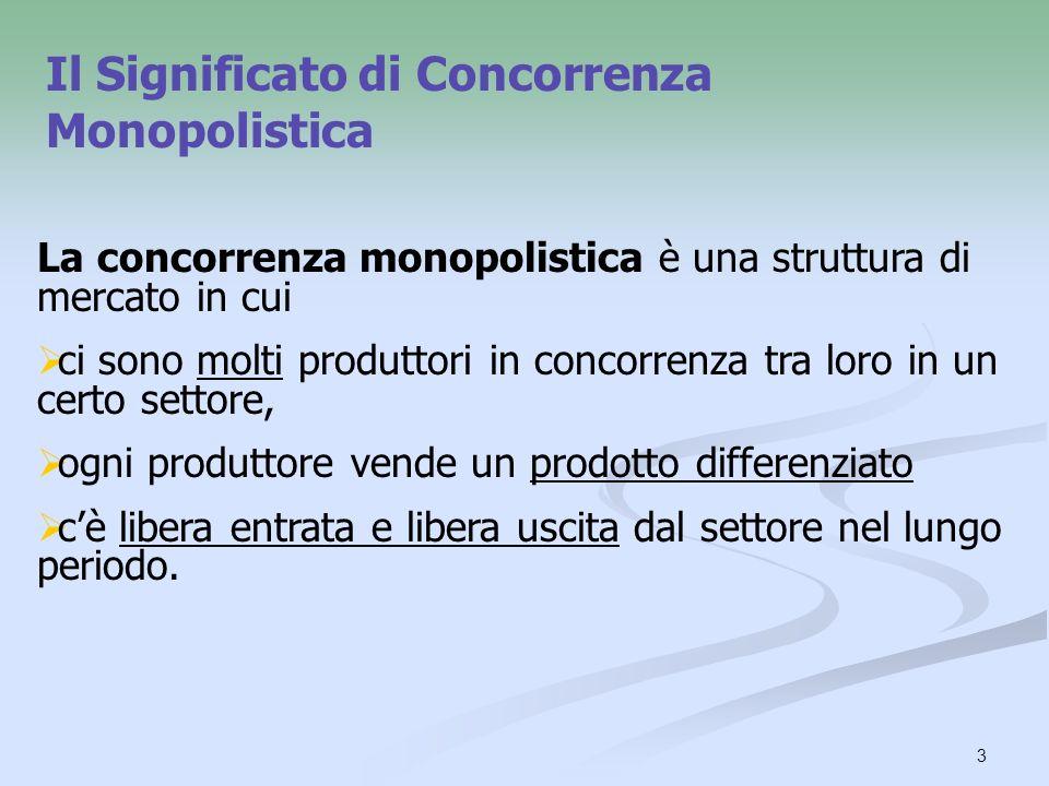 Il Significato di Concorrenza Monopolistica