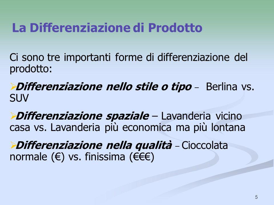 La Differenziazione di Prodotto