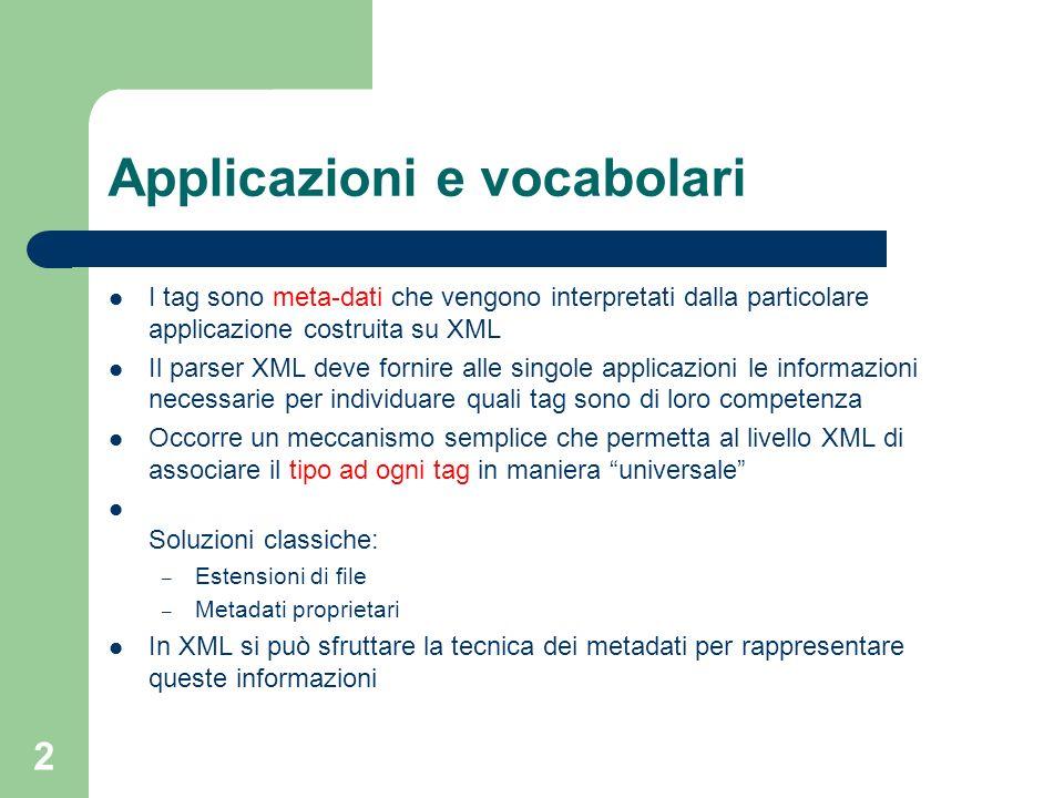 Applicazioni e vocabolari