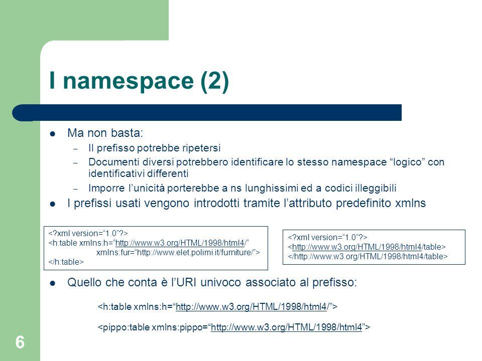 I namespace (2) Ma non basta: