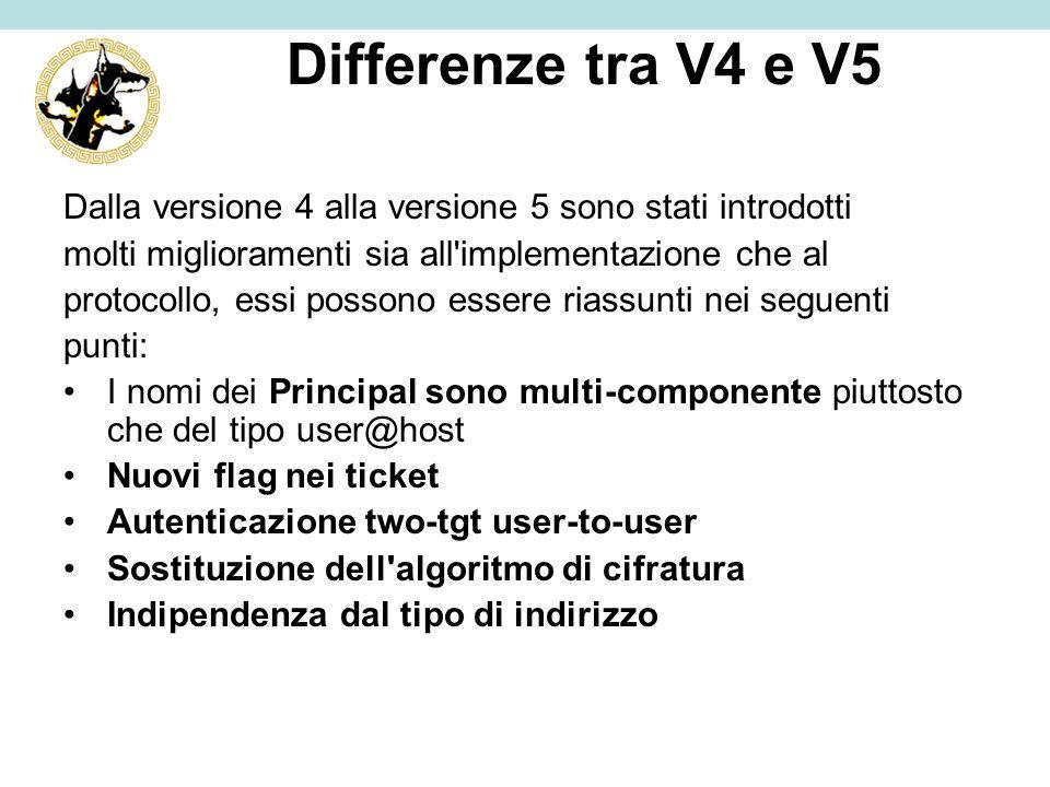 Differenze tra V4 e V5 Dalla versione 4 alla versione 5 sono stati introdotti. molti miglioramenti sia all implementazione che al.
