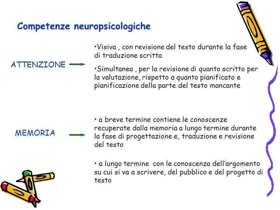 Competenze neuropsicologiche