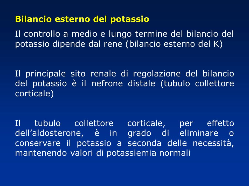 Bilancio esterno del potassio