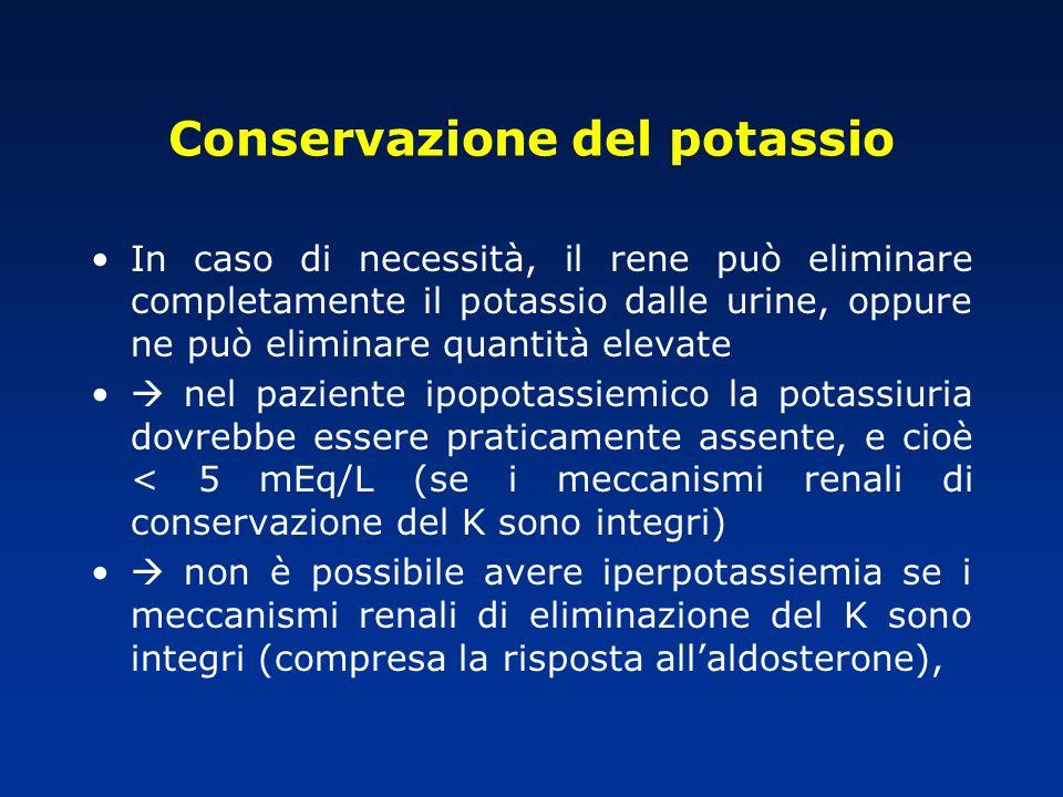 Conservazione del potassio