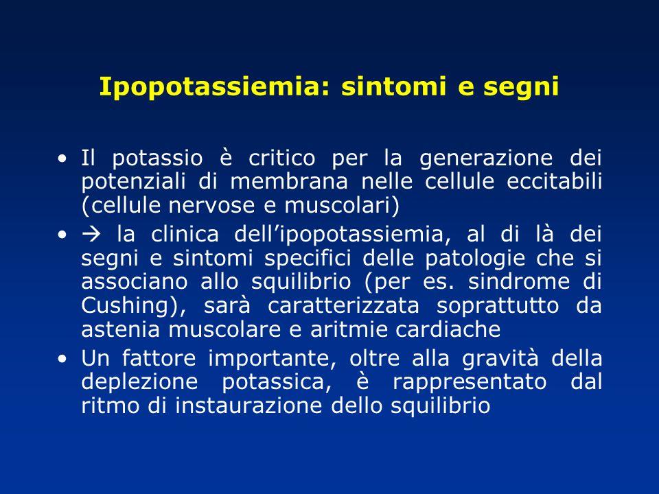 Ipopotassiemia: sintomi e segni