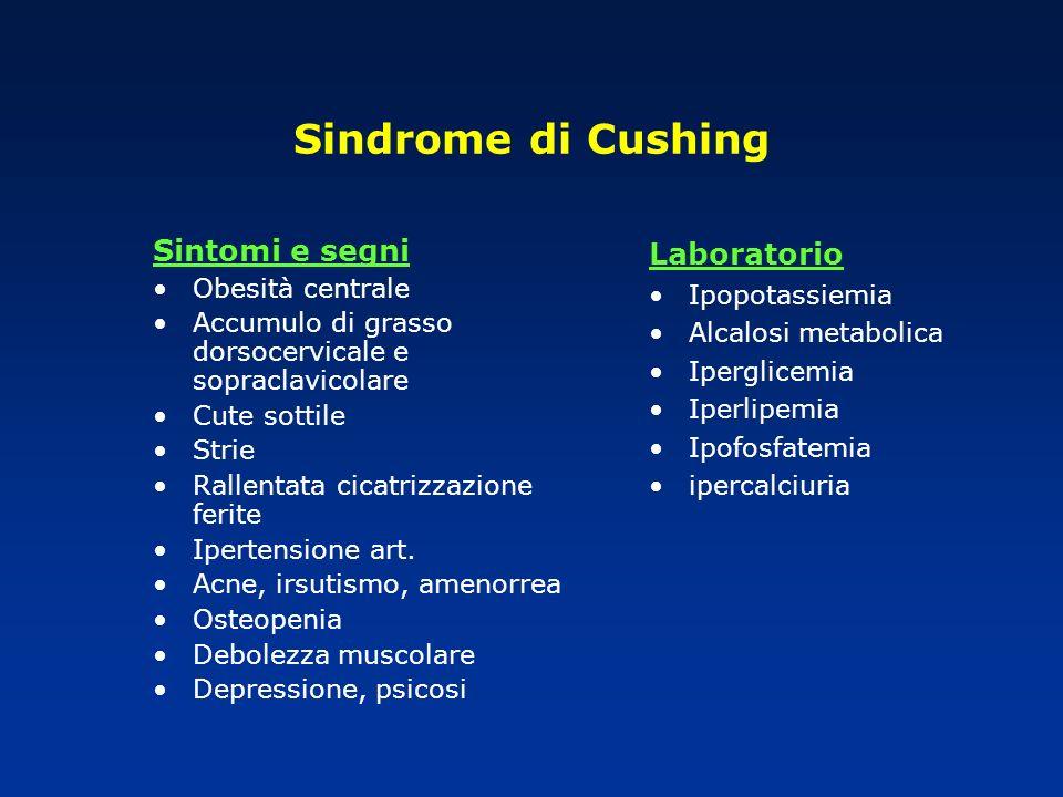 Sindrome di Cushing Sintomi e segni Laboratorio Obesità centrale