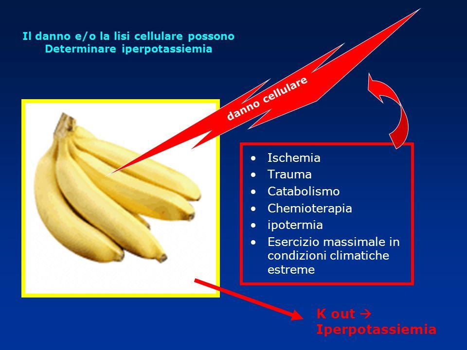 Il danno e/o la lisi cellulare possono Determinare iperpotassiemia