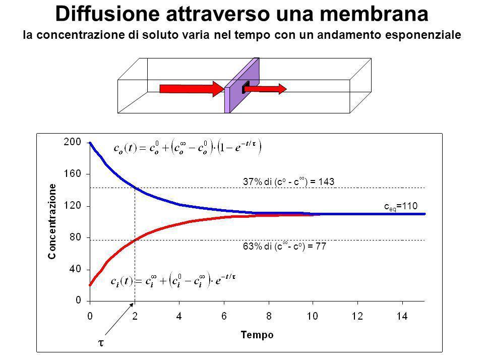 Diffusione attraverso una membrana