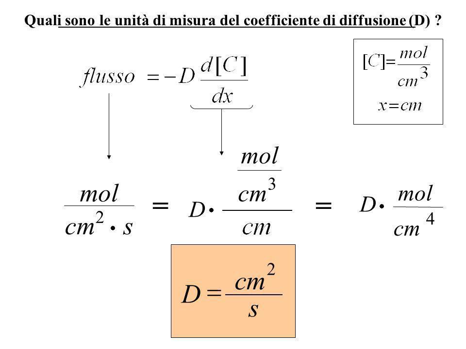 = = cm = D s mol cm s mol cm mol D D cm 3 2 4 2