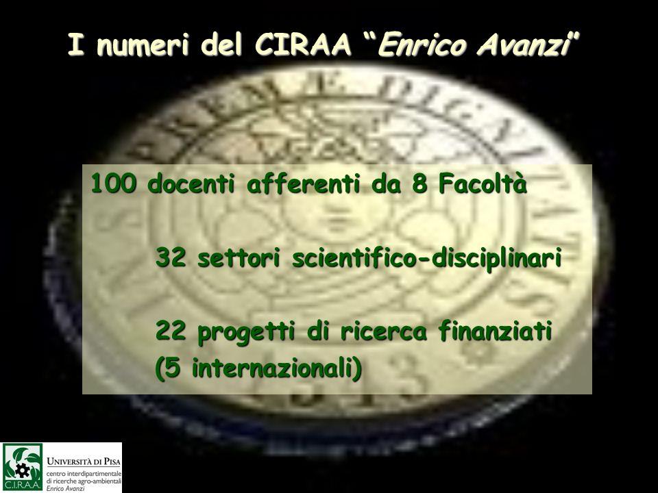 I numeri del CIRAA Enrico Avanzi
