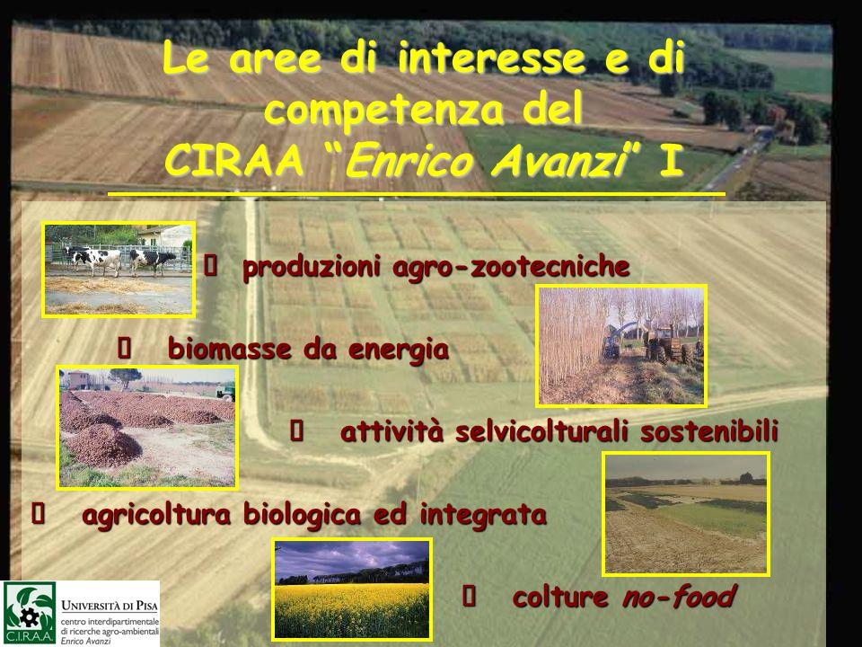 Le aree di interesse e di competenza del CIRAA Enrico Avanzi I