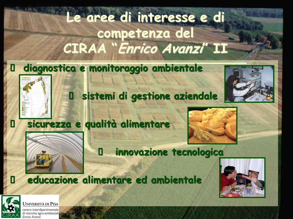 Le aree di interesse e di competenza del CIRAA Enrico Avanzi II