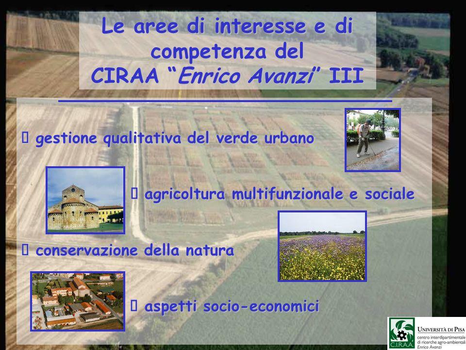 Le aree di interesse e di competenza del CIRAA Enrico Avanzi III